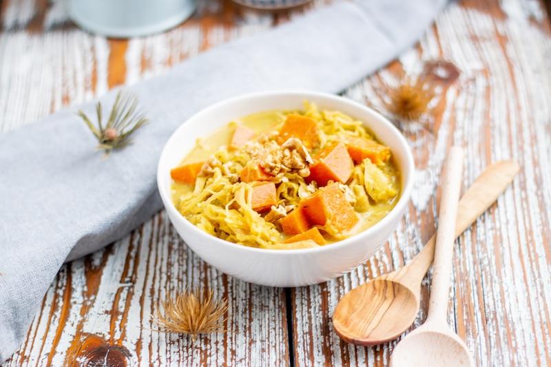 Süßkartoffel-Sauerkraut Eintopf