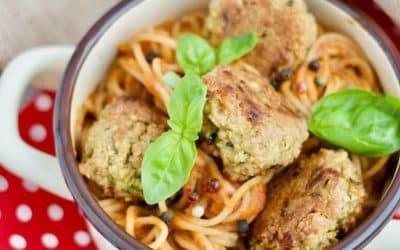 Spaghetti mit vegetarischen Meatballs