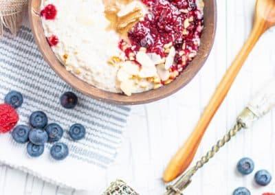 Quinoa Porridge mit Beerengrütze_2