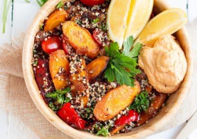 Marokkanischer Möhren-Quinoa-Salat