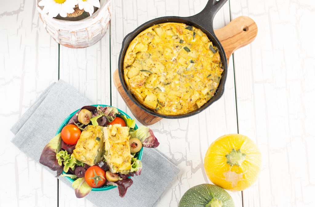 Tortillasalat mit Zucchini