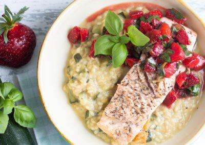 Lachs-Risotto mit Erdbeeren_2