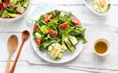 Zucchini-Ziegenkäse-Päckchen Salat