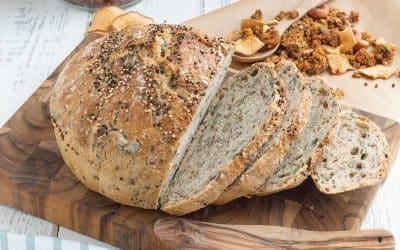 Quinoabrot und Anleitung für's Brotbacken