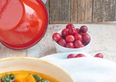 Kürbis-Cranberry-Gulasch