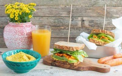 Gemüsestulle mit Linsen-Curry-Aufstrich